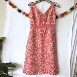 {J Crew} Floral Ribbon Detail Dress